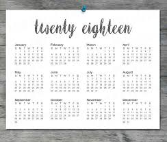 printable calendar 8 5 x 11 2018 printable calendar instant download 8 5 x11 black and white