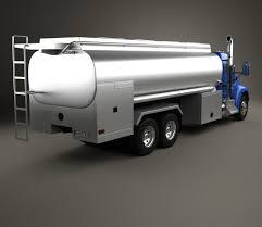 2009 kenworth truck kenworth t370 tanker truck 3 axle 2009 3d model hum3d