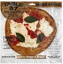 table 87 frozen pizza table 87 pizza coal oven 9 6 oz nutrition information shopwell