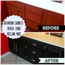 bathroom cabinets reveal using reclaim paint decorate my life