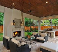 outdoor living room u0026 kitchen with fireplace it u0027s like a great