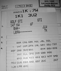 options sticker and engine codes