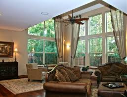Window Treatment Hardware Medallions - 2 story sheer linen fabric helser drapery hardware drapes from