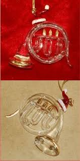 french horn christmas ornament french horn horn and musical