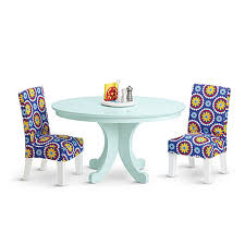 american doll dining table amazon com american duo my ag dining table chairs and table