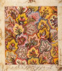 Flower Fabric Design Textile Design Factory Of Jean Michel Haussmann Colmar 1797