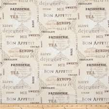 ivory kitchen words cream discount designer fabric fabric com