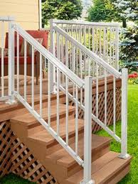 diy aluminum railing system stair railing white with wide