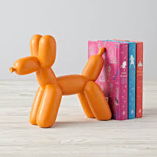 unique bookends for sale balloon animal pink dog bookend the land of nod