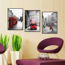 london wall art london skyline city poster watercolor painting aliexpress modern london red bus car wall art picture melamine sponge board canvas prints oil painting
