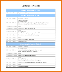 conference agenda template new 2017 resume format and cv samples