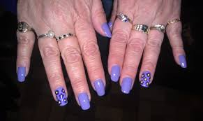 purple african violets nail art by cecilia brown nailpolis