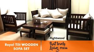 Wooden Sofa Sets For Living Room Sofa Set Design Royal Tilt Wooden By Rightwood Furniture