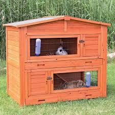 trixie rabbit hutch small animal habitats u0026 cages compare