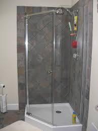 bathroom shower stall designs bathroom design modern corner shower stalls with dark tile wall