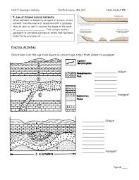 geologic history note packet