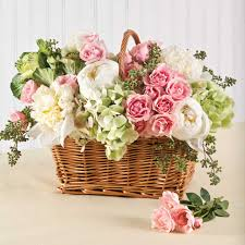 easter basket flowers arrangement u2013 happy easter 2017