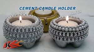 cement candle holder diy how to make jk arts 101 youtube