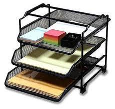 Desk Tray Organizer by Stackable 3 Tier Desk Tray Organizer Racks Document Letter Black