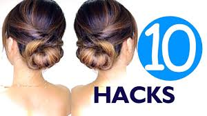26 lazy hairstyling hacks 10 lazy girls hair hacks u0026 hairstyles hairstyle easy youtube