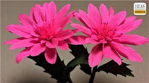 how to make dahlia paper flower diy dahlia crepe paper flower