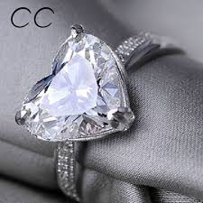 large silver rings images 925 sterling silver plated large heart shaped cubic zirconia cz jpeg