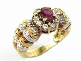 ruby diamond ring jewelry ruby diamond ring k18yg 750 yellow gold x ruby 0 64