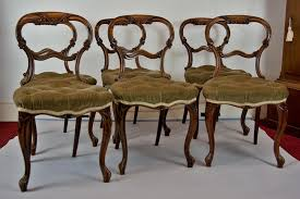 Victorian Dining Chairs Set Of 6 Walnut Victorian Dining Chairs Antique Furniture
