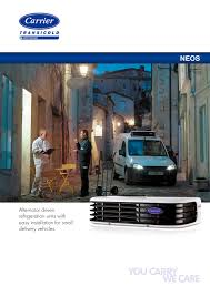 neos 100 carrier transicold europe pdf catalogue technical