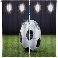 Soccer Curtains Valance Soccer Player Kick Window Curtains At Http Www