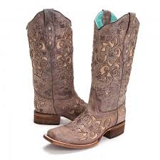 womens size 11 square toe cowboy boots womens jute inlay square toe cowboy boots brown