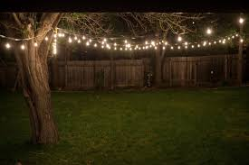 Led Patio Lights String Backyard Light Hanging Pole Home Depot How To String Lights
