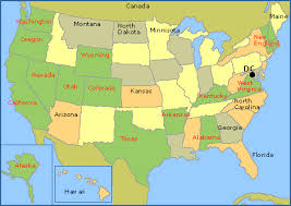 united states of america map with states and capitals rock climbing sport climbing and bouldering in the united states