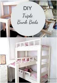 Crib Mattress Bunk Bed by 12 Best Triple Bunks Images On Pinterest Bedroom Ideas Triple