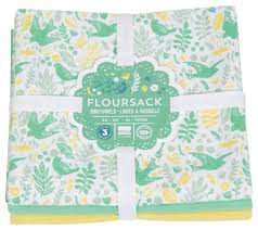 now designs kitchen towels floursack towels meadowlark print set of 3 by now designs