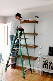 Building Wood Bookshelf by Best 25 Pipe Bookshelf Ideas On Pinterest Diy Industrial