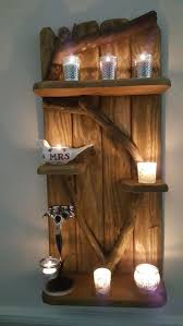 a unique rustic driftwood shelves solid shabby chic nautical