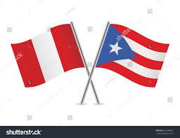 Puertorican Flag Puerto Rican Peruvian Flags Vector Illustration Stock Vector