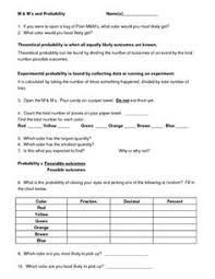 Experimental Probability Worksheet Probability Lab Activity Labs Activities And Math