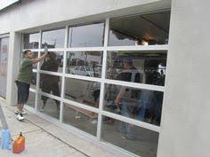 garage glass doors contemporary glass garage doors one way see glass door home