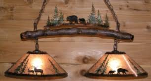 rustic pool table lights deer bear mica metal island light l shade pro