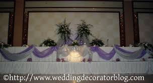 long head table decorations