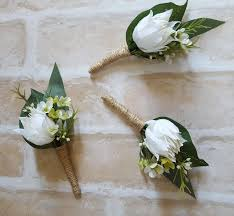 buttonhole boutonniere rustic country garden style