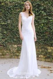 sleeveless wedding dress floral appliqued sleeveless fit and flare lace wedding
