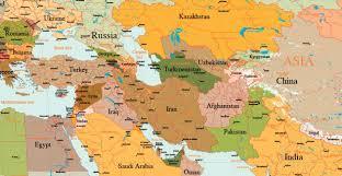middle east map kazakhstan kurdistan the clash of civilizations