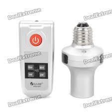remote control light bulb socket ir wireless remote control ac power l bulb socket 110 220v 2 x