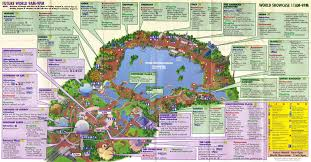 Disney World Epcot Map Epcot Guidemaps 2000 1996 Page 4