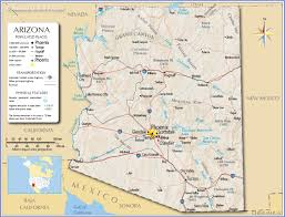 Where Is Arizona On The Map by Download Map Usa Arizona Major Tourist Attractions Maps