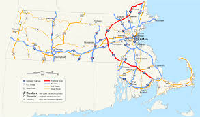 Florida Toll Road Map by Interstate 495 Massachusetts Wikipedia