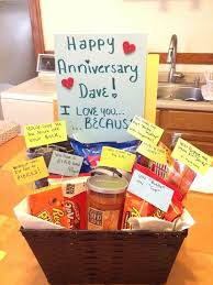 anniversary gift basket 1 year anniversary gifts for him search anniversary